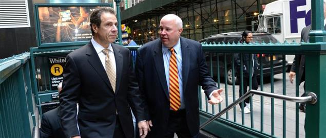 MTA Chairman and CEO Thomas Prendergast was joined by New York Governor Andrew M. Cuomo