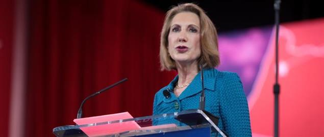 Carly Fiorina speaking at CPAC 2015 in Washington, DC.