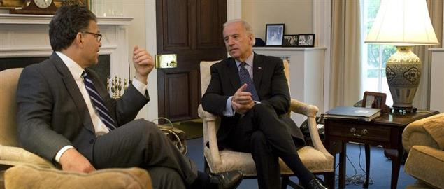 Vice President Biden meeting with Senator Franken in 2009