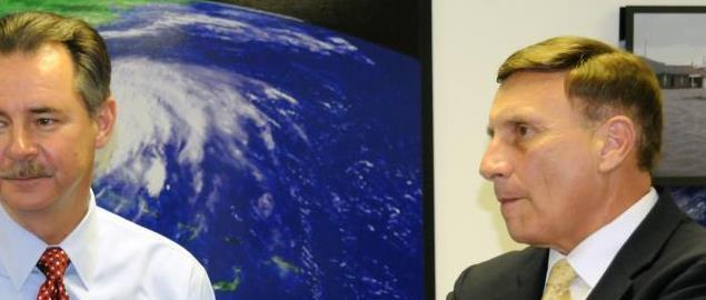 FEMA Administrator Paulison, Florida Congressman John Mica, and State Director of Emergenc