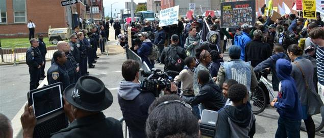 Protest at the Baltimore Police Department