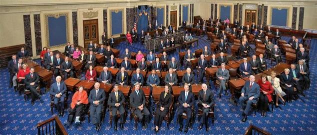 A class photo of the 111th United States Senate