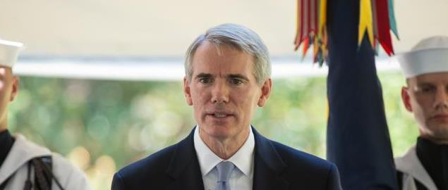 U.S. Sen. Rob Portman, R-Ohio, speaks during a memorial service of Neil Armstrong