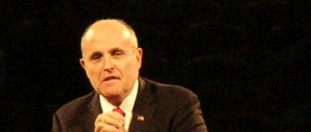 Rudy Giuliani speaks at the Get Motivated Seminar at the Cow Palace in Daly City, Californ