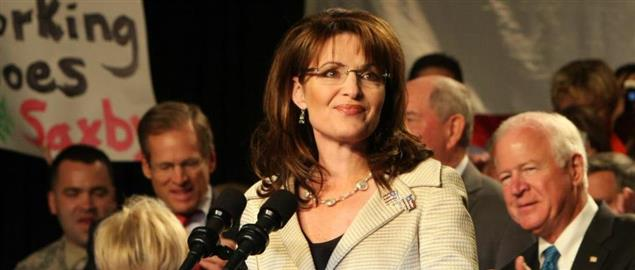 Palin at a rally for Senator Chambliss prior to his 2008 runoff eleciton