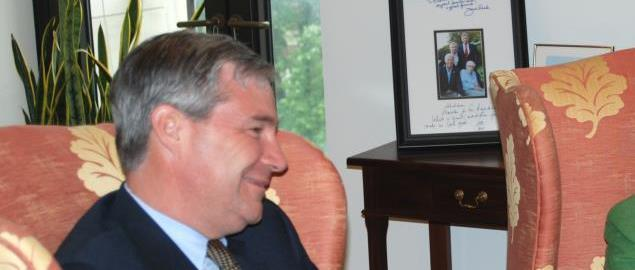 Senator Sheldon Whitehouse (D-RI) meeting with Supreme Court nominee Elena Kagan.