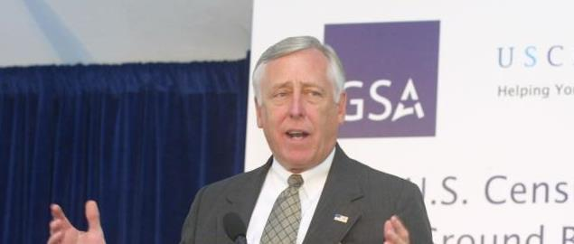 Congressman Steny Hoyer at a U.S. Census Bureau function.